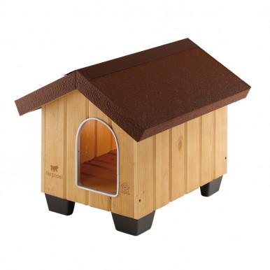 Cuccia per cani Domus per esterno in legno di pino nordico resistente agli agenti atmosferici
