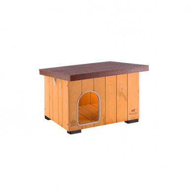Cuccia per cani da esterno in legno Baita resistente ai raggi uv con tetto sganciabile