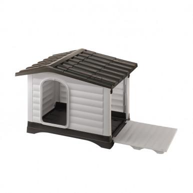 Cuccia per cani trasportabile Dogvilla da esterno in resina termoplastica resistente