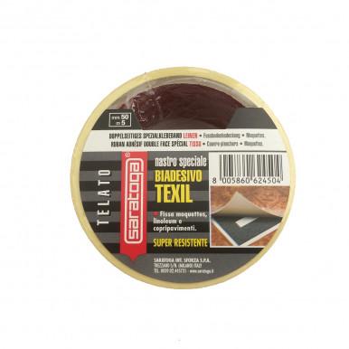 Nastro telato biadesivo Texil super forte per fissaggio moquette, linoleum, legno, tessuti
