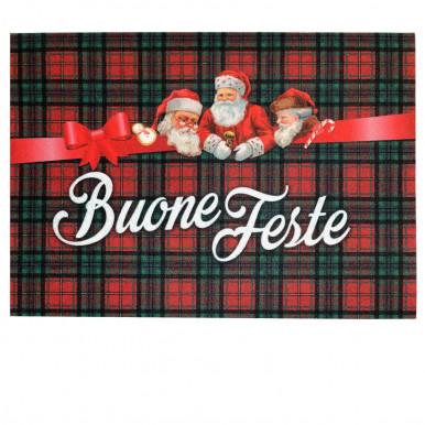 Tappeto ingresso buone feste Babbo Natale cm 70x40