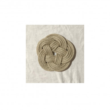 Sottopentola artigianale in corda di Kenaf juta intrecciata a mano