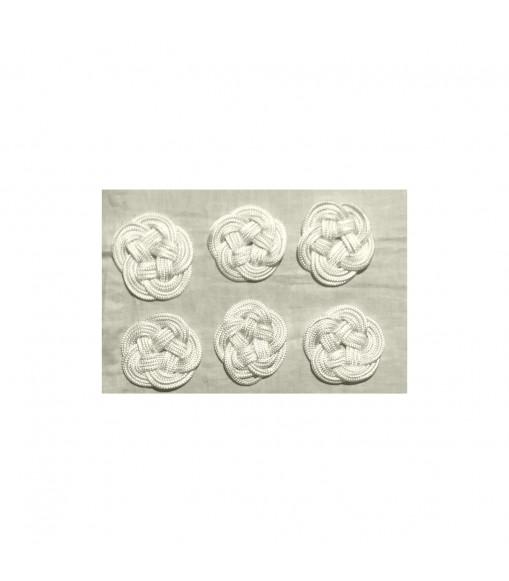 Set sottobicchieri artigianali intrecciati a mano in corda poliestere