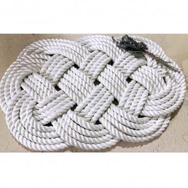 Tappeto in corda di gherlino bianca mis. 72x45