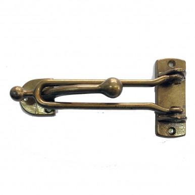 Gancio limitatore d'apertura per porte in ottone