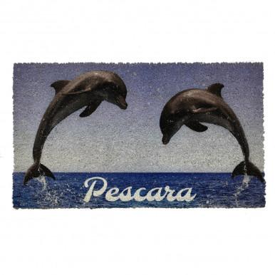Zerbino in cocco con stampa Delfini Pescara cm. 70x40