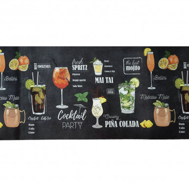Passatoia Movida con stampa cocktail h. 52 cm per ogni ambiente