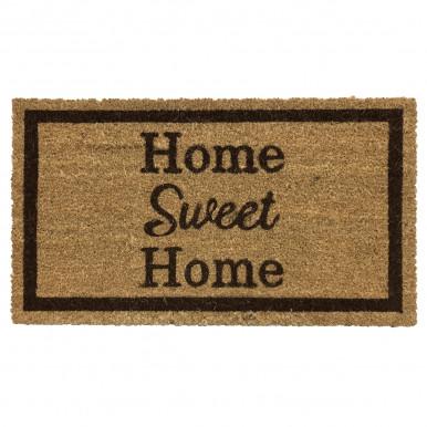 Zerbino in cocco naturale mis. 70X40 con stampa Home Sweet Home