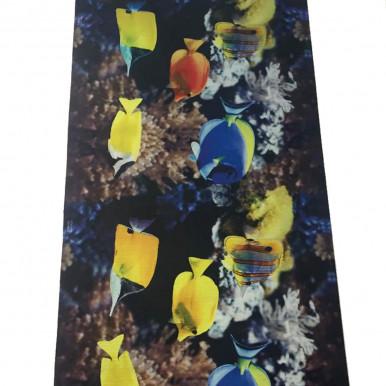 Tappeto passatoia con pesci tropicali h. 50 cm, lavabile, fondo gommato antiscivolo
