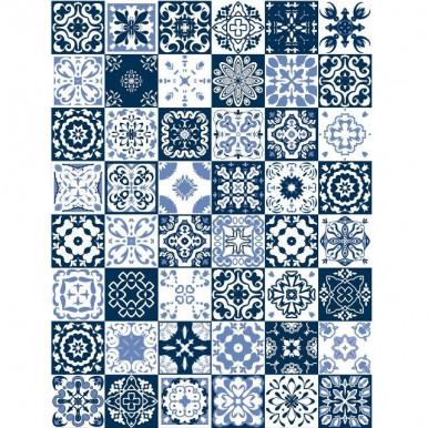 Tappeto pavimento con maioliche Vietri in pvc per tutti gli ambienti