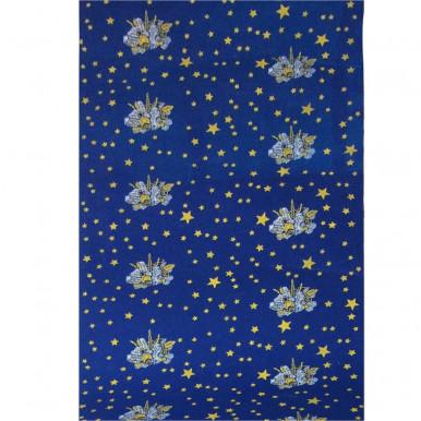 Guida blu Natale con stelle e candele