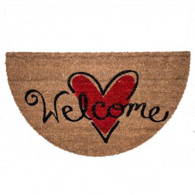 Zerbino cocco con stampa Welcome cuore